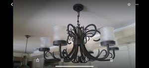 Artistic Wrought Iron Chandelier by designer Alexandra Diez. Lampara para la venta. for Sale in Miami Gardens, FL
