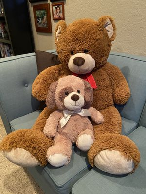 Giant Teddy Bear with small stuffed doggy. for Sale in Chino, CA