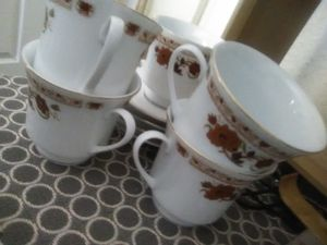 Tea cups and saucers set for Sale in Los Angeles, CA