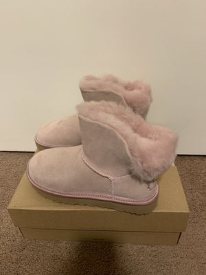 100% Authentic Brand New in Box UGG Classic Mini Swarovski Crystal Boots / Color Pink / Women size 7 and Women size 12 / Color: Pink Crystal for Sale in Walnut Creek, CA