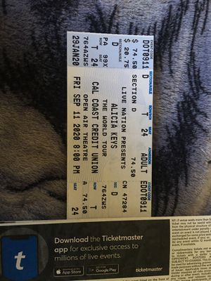 Alicia Keys September 11 for Sale in San Diego, CA