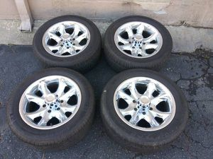 6 lug 17 inch chrome rims and tires. Chevy, Toyota, Nissan more for Sale in Montebello, CA