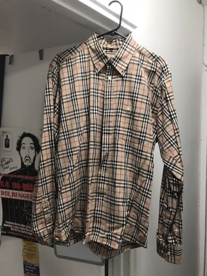 Burberry button down size xl for Sale in White Plains, NY
