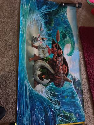 Moana and Maui vinyl poster for Sale in Los Angeles, CA