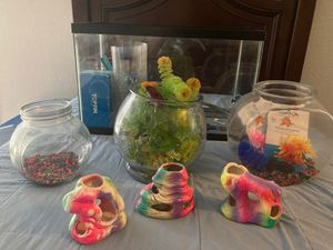 Fish tank and supplies for Sale in Englewood, CO