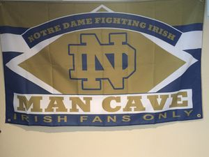 Notre Dame Man Cave Wall Flag (3'x5') for Sale in Mokena, IL