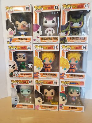 Dragonball Z Funko Pops $10 for Sale in Wheeling, IL