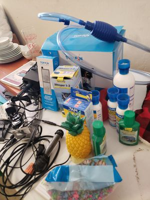 Fish tank, filter, heater, chemical, etc. for Sale in Phoenix, AZ