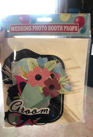 Wedding photo booth props for Sale in Huntington Beach, CA