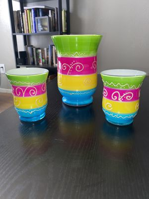 Beautiful Multicolored Glass Containers for Sale in Fort Worth, TX