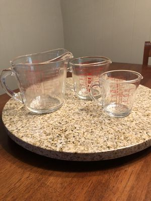 3 Vintage Pyrex D Handle Measuring Cups for Sale in Gainesville, FL
