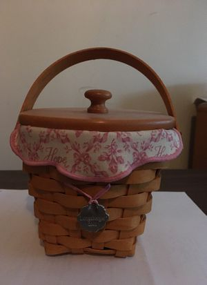 Longaberger hope basket 2001- never used for Sale in Columbus, OH
