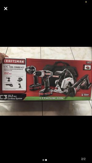 New Craftsman 4 tools included 2-battery charger. for Sale in Tampa, FL