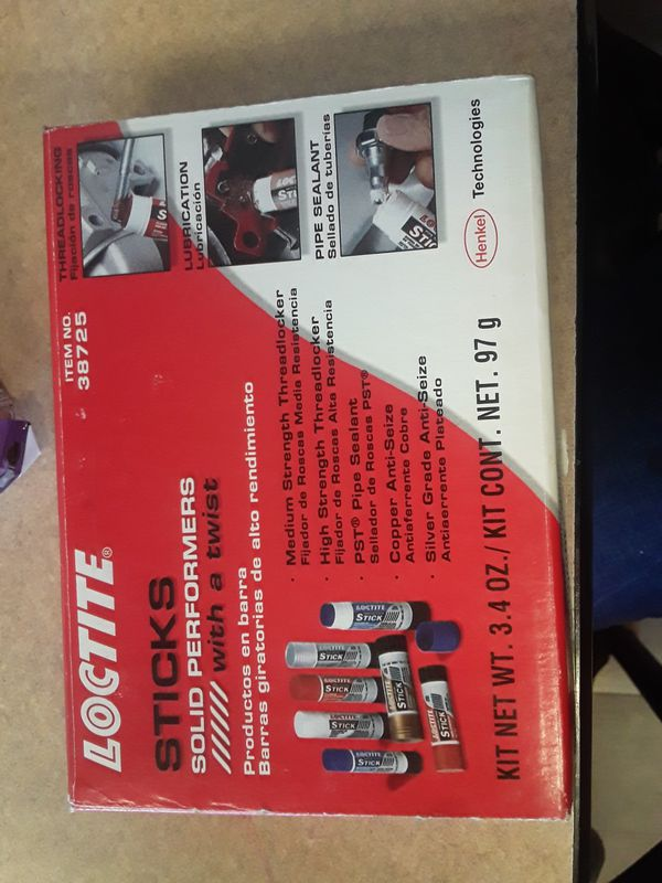 Threadlocker pipe sealant anti seize