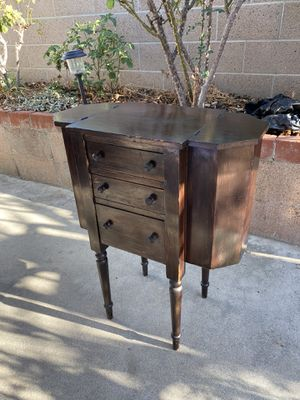 Antique Martha Washington style sewing cabinet for Sale in Fullerton, CA