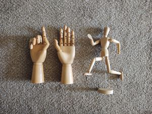 Posable figure and hands for Sale in Nampa, ID
