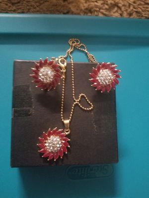 Ruby plated necklace set for Sale in Baltimore, MD