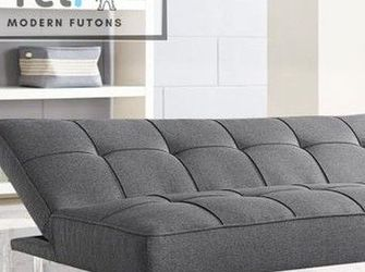 Charcoal Grey Modern Futon (FREE DELIVERY) for Sale in Chicago,  IL