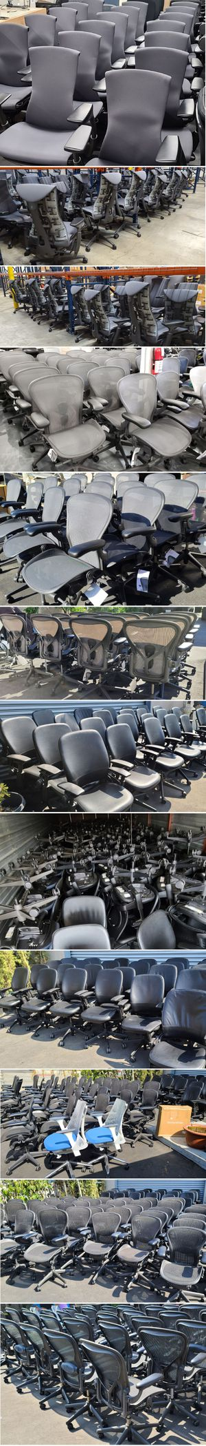 WE HAVE IN STOCK ALL THE BEST CHAIRS FROM ALL THE BEST BRANDS HERMAN MILLER STEELCASE EAMES KNOLL HAWORTH HUMANSCALE BIGGEST INVENTORY IN SO CAL for Sale in Alhambra, CA