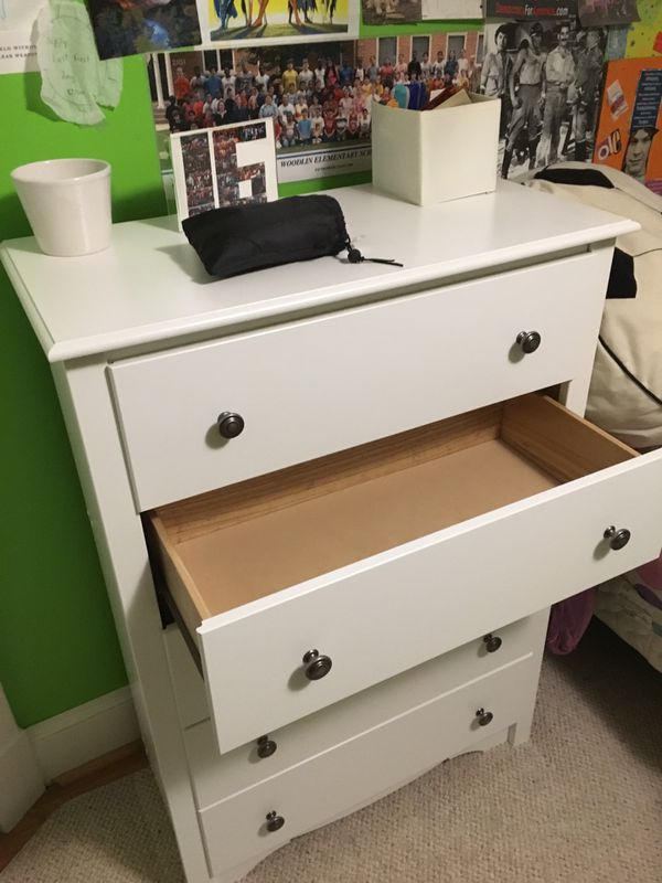 "Chest of drawers- is 45"" high, 33"" wide and 16"" deep"