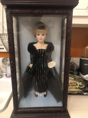 Antique Collectable new porcelain Doll with real fur dress for Sale in Miami, FL