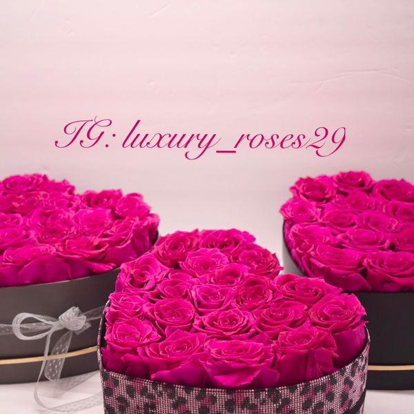 Pink Leopard Animal Print Rhinestones Box Roses Heart Shape Preserved Roses Real Flower Bouquet Eternal Thanksgiving Christmas Luxury For Her