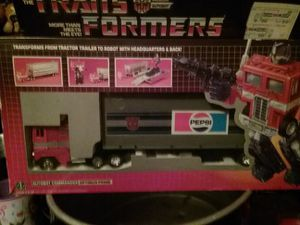 1984 rare Pepsi edition optimus prime,complete,never played with for Sale in Tennerton, WV