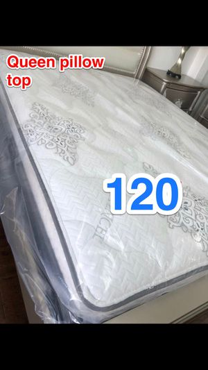 BRAND NEW PILLOW TOP MATTRESSES💯 COLCHONES NUEVOS PILLOW TOP 💯 Queen $120 ❌ $180 With Box Spring 💥💥 FULL SIZE $100 ❌ $150 With Box Spring💥 Twin $8 for Sale in Baldwin Park, CA