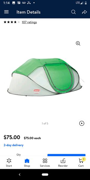 Brand new in the box pop up tent for Sale in Bristol, RI