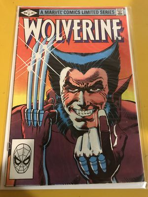Wolverine 1982 mini series 1-4 (issue 1 signed by Chris Claremont) for Sale in Chantilly, VA