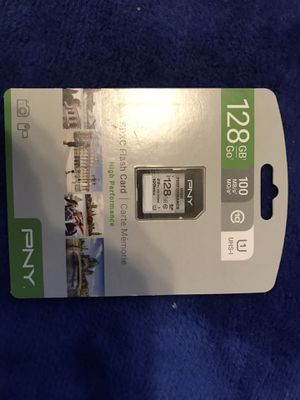 PNY 128gb class 10 SD Card For Your Digital Devices/Equipment That support SD Card for Sale in Escondido, CA
