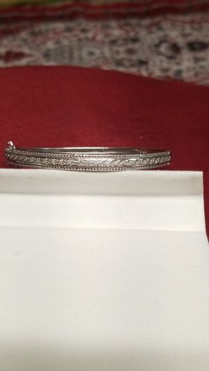STERLING SILVER BRACELET WITH DAIMONDS for Sale in Springfield, VA