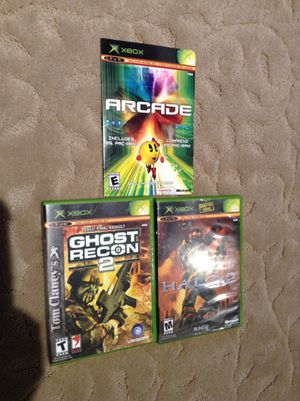 Lot of OG Xbox Games - Ghost Recon, Halo 2, Arcade, Ms. Pacman for Sale in Denver, CO