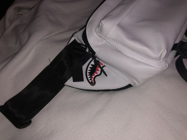 Sprayground White Crossbody Bag