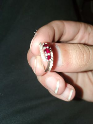 Rose gold ruby silver womans ring for Sale in Berkley, MA