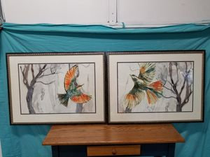 Pair watercolor birds painting for Sale in Overland Park, KS