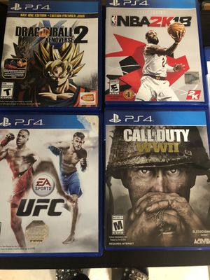 PlayStation4 Games 5 for Sale in Little Falls, NJ