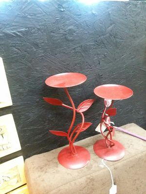 2pc metal candle holders for Sale in San Antonio, TX