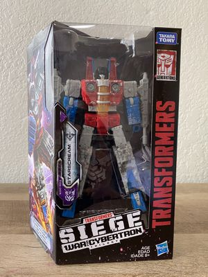 Transformers War for Cybertron: Siege Voyager Starscream for Sale in Fresno, CA
