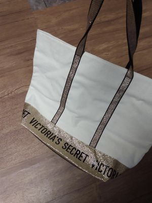 Victoria secret tote bag ( glitter and gold) for Sale in Lebanon, PA