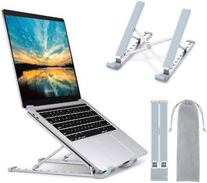 Laptop Stand, Laptop Holder Riser Computer Stand, Aluminum 9-Angles Adjustable Ventilated Cooling Notebook Stand Mount Compatible with MacBook Air Pr for Sale in San Dimas, CA