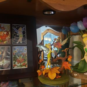 3 Piece Tinker Bell Figurines/Picture Collage DisneyStore Branded for Sale in Sloan, NV