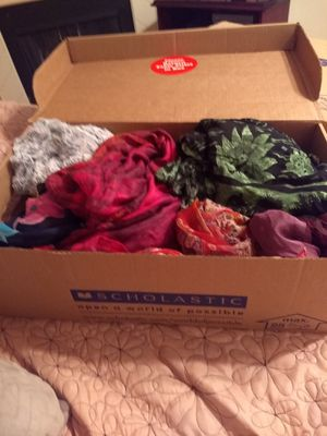 Box of 27 scarves for Sale in Plano, TX