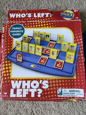 Who's left? Game board for Sale in Stockton, CA