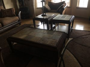 Coffee Table and Side Tabels for Sale in Tacoma, WA
