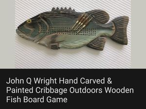 Hand Carved Cribbage baord for Sale in Easley, SC