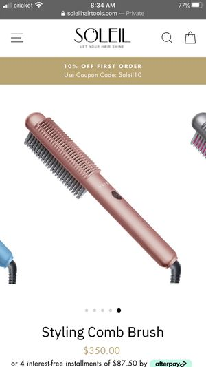 Soliel Styling Comb for Sale in Clovis, CA