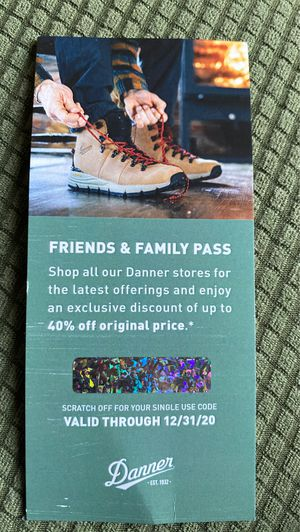 Danner friend's&family pass for Sale in Portland, OR