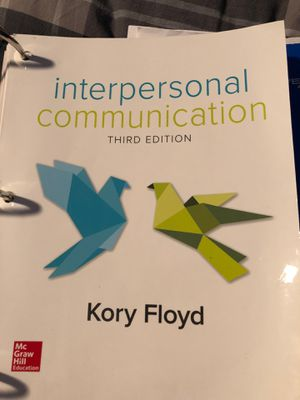 Interpersonal Communication Book for Sale in Herndon, VA