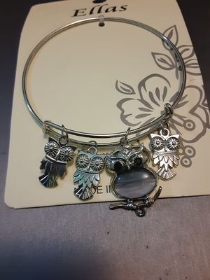 New owl charm bangle bracelet for Sale in Yonkers, NY